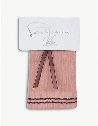Pierre Mantoux Shu striped-cuff stretch-cotton socks