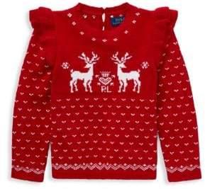 Ralph Lauren Little Girl's Reindeer Sweater