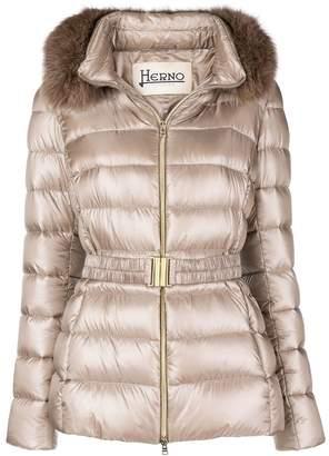 Herno trimmed padded jacket