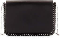 Paco Rabanne Classic Sleek Whipstitch Shoulder Bag, Black
