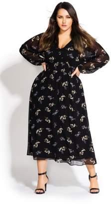 City Chic Citychic Gentle Floral Dress - black