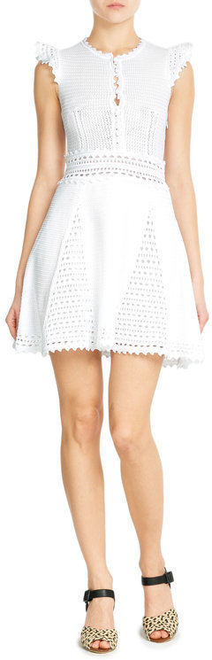RED Valentino R.E.D. Valentino Crochet Dress