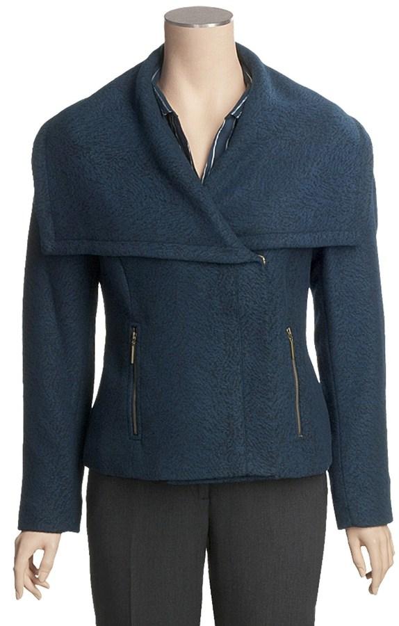 Tribal Sportswear Shawl Collar Jacket - Zip Front (For Women)