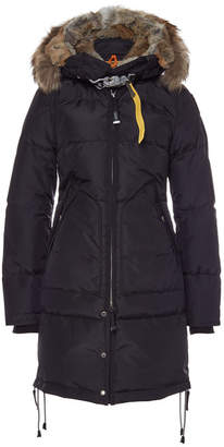 Parajumpers Long Bear Down Parka with Fur-Trimmed Hood