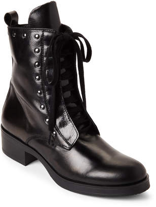 Gabriella Leather Studded Lace-Up Boots