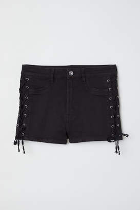 H&M Shorts with Lacing - Black