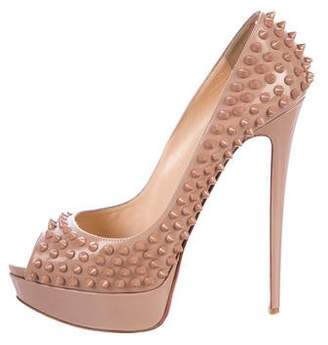 Christian Louboutin Lady Peep Spikes 150 Pumps