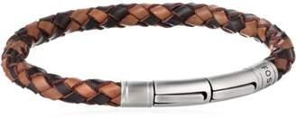 Fossil Men's Braided Brown Bracelet