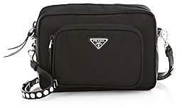Prada Women's Nylon Crossbody Bag With Studding