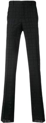 Givenchy eyelet check trousers