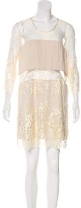 Mason Lace-Accented Mini Dress