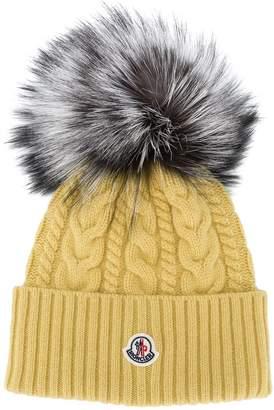 Moncler pom pom beanie hat