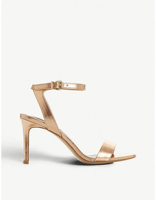 Steve Madden Faith metallic faux-leather sandals