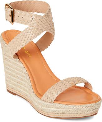Madden-Girl Natural Narla Espadrille Platform Wedge Sandals