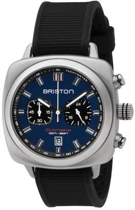 Briston Chronograph Rubber Strap Watch, 42mm