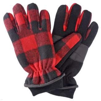 Klondike Canada Klondike Sterling Mens Check Pattern Knit Glove C40 Thinsulate Acrylic (Blue,)