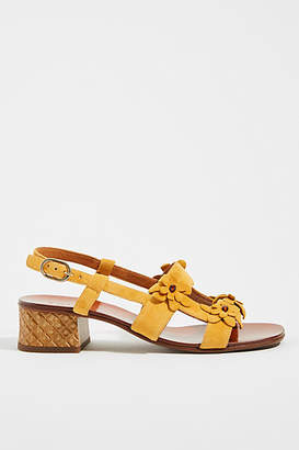 Chie Mihara Flower Heeled Sandals