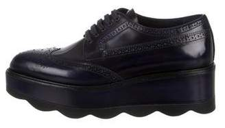 Prada Brogue Leather Oxfords
