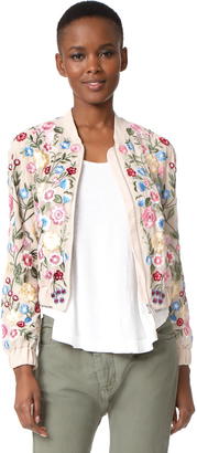 Needle & Thread Flower Foilage Bomber Jacket $459 thestylecure.com