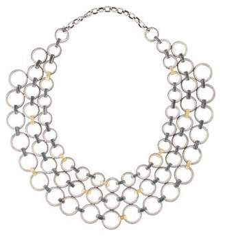 Gurhan Hoopla Chainmail Bib Necklace