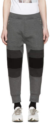 Neil Barrett Black and Grey Biker Lounge Pants