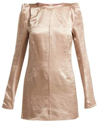 Ann Demeulemeester Lambeth Satin Tunic Top - Womens - Pink