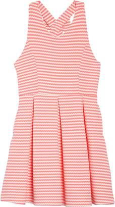 Ava   Yelly Stripe Bow Back Skater Dress 5c5cf3746