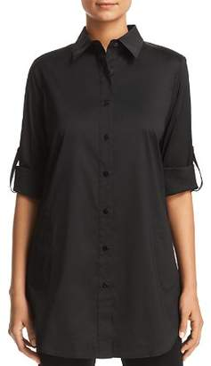 Misook Button-Down Tunic Top