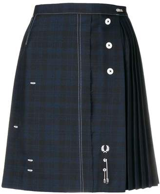 Le Kilt pleated tartan mini skirt