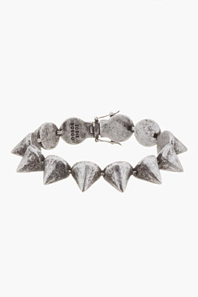 Eddie Borgo Silver Studded Large BRacelet