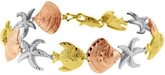 FINE JEWELRY 10K Tri-Tone Gold Nautical Sea Life Bracelet