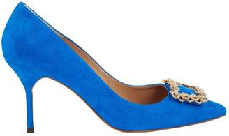 Carolina Herrera Blue Suede Heels
