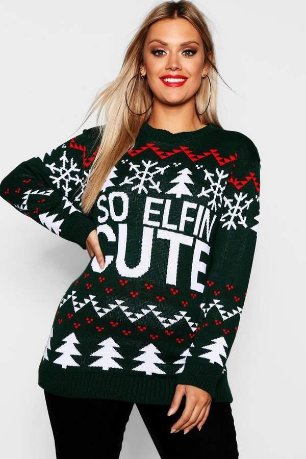 Plus So Elfin Cute Christmas Jumper