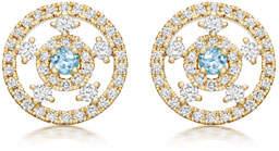 Kiki McDonough Apollo 18k Gold, Blue Topaz & Diamond Stud Earrings