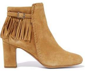 Tabitha Simmons Fringed Suede Ankle Boots
