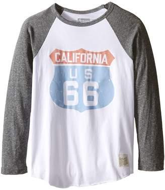 Original Retro Brand The Kids Cali 66 Long Sleeve Baseball Cali 66 Raglan Boy's T Shirt