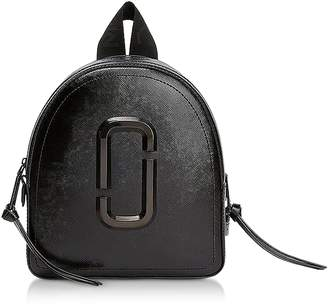 Marc Jacobs Black Leather Pack Shot Backpack