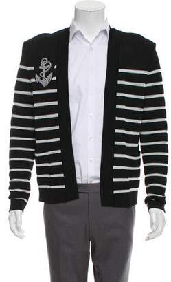 Balmain Woven Striped Cardigan w/ Tags