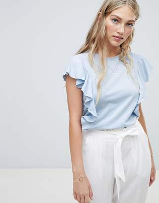 Vero Moda Ruffle Front T-Shirt