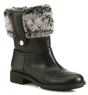 Cole Haan Cole Haan Breene Waterproof Leather & Faux Shearling Boots