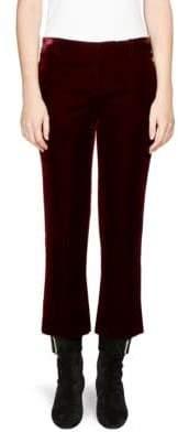 Saint Laurent Velvet Cropped Flare Pants