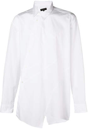 Comme des Garcons swirly patterned asymmetric shirt