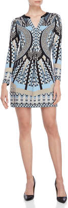 Hale Bob Printed Long Sleeve Dress