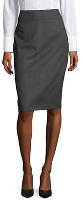 HUGO Rullas Wool-Blend Pencil Skirt