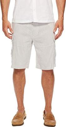 Perry Ellis Men's Stripe Drawstring Linen Cargo Short