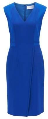 BOSS Hugo V-Neck Sheath Dress Dadama 0 Blue