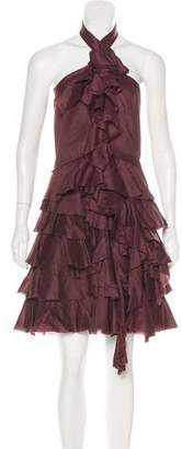 Robert Rodriguez Halter Ruffled Dress