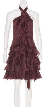 Robert Rodriguez Halter Ruffled Dress
