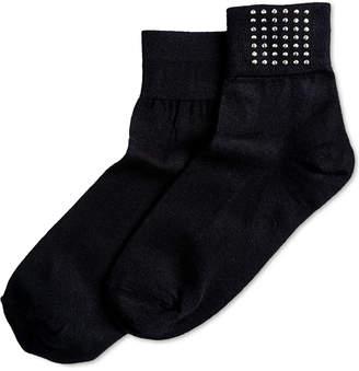 Hue Studded Shortie Socks