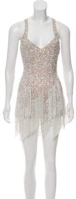 Elie Saab Sequined Mini Dress
